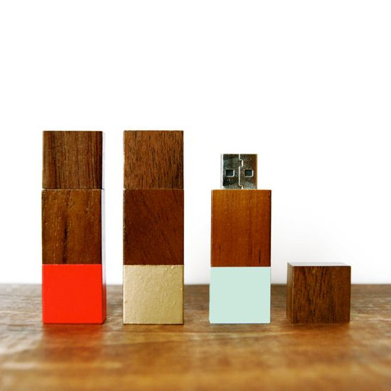 Wood Flash Drive Geometric 2GB USB Drive in by sonofasailorSUPPLY
