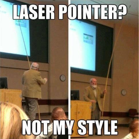 Laser pointer?