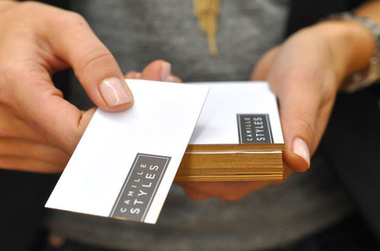 DIY gold-edge business cards