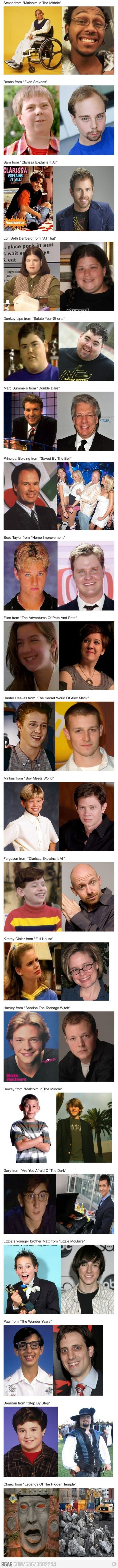 Supporting Characters From 90s TV Shows Then And Now
