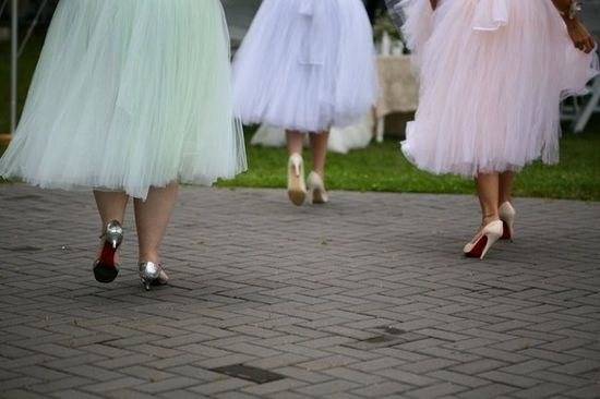Colorful pastel tulle skirts!