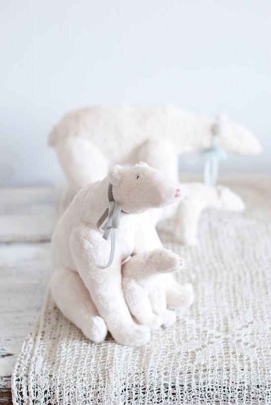 Bear winter, hand made, white
