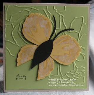 Stampin' Up!  Blossom Petals Punch  Susan Carlson  Butterfly