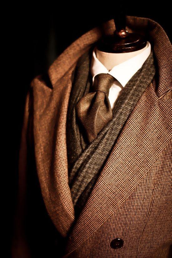 ? Chocolate brown man's wear masculine elegance