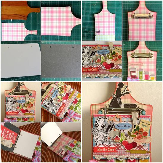 How To Make Creative Handmade Cookbook step by step DIY tutorial instructions, How to, how to do, diy instructions, crafts, do it yourself, diy website, art project ideas