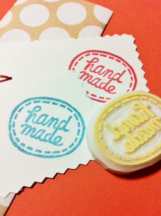 HANDMADE hand carved rubber stamp. handmade rubber stamp. for makers. no4. $10,00, via Etsy.
