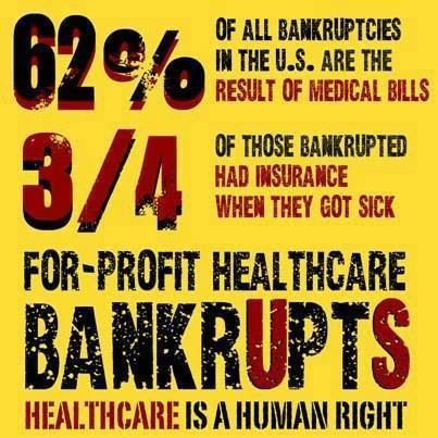 Health care...we should never be making profit off of people being sick