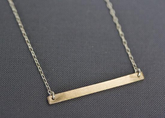 Bar Necklace in Bronze / Upper Metal Class