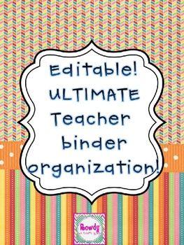 Editable version of the Teacher Binder!