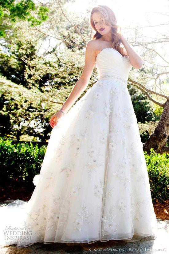 kenneth winston bridal 2013 strapless a line wedding dress pl1477