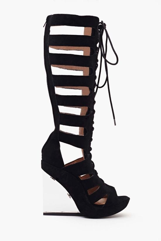 Rufa Gladiator Wedge in Shoes at Nasty Gal