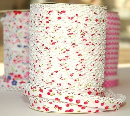 Bias Tape  Double Fold  Cherries and by HollandFabricHouse on Etsy, $1.75