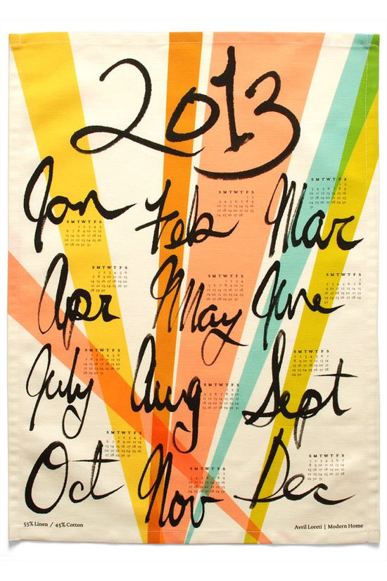 2013 Calendar by Avril Loreti