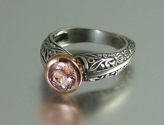 Morganite engagement ring 14K