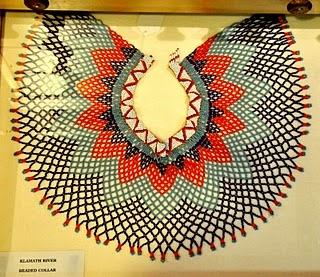 woven beaded Native American collar