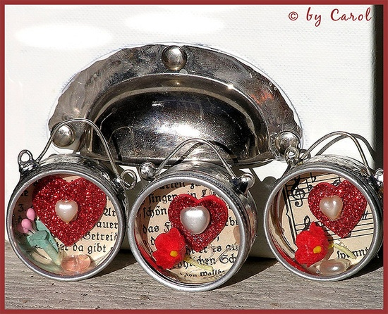 Soldered Valentine charm boxes