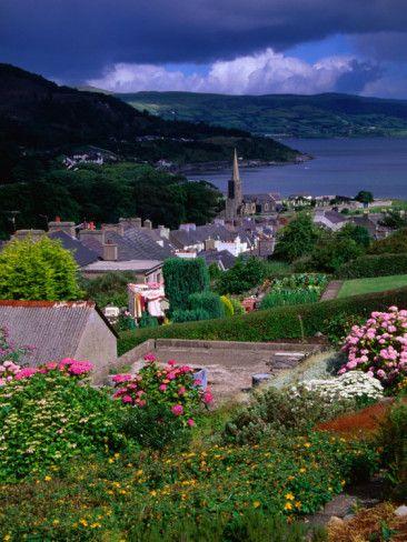 Village in the Antrim Glens, Northern Ireland