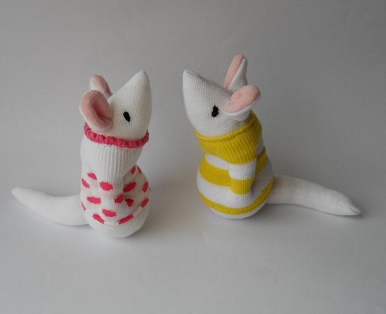 pair of sock mice