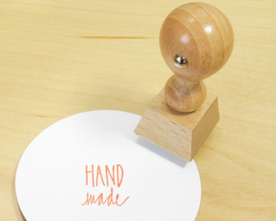 Handmade Rubber Stamp  hand lettered stamp  handmade by papersushi, $10.00