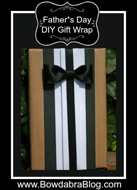 Father's Day Gift Wrapping Idea better yet groomsmen gift wrapping idea!!!