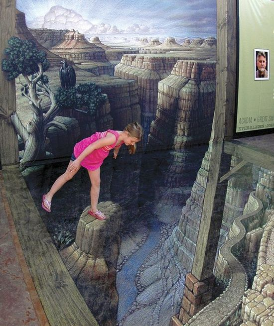Don't look down! Grand Canyon 3D Street Art