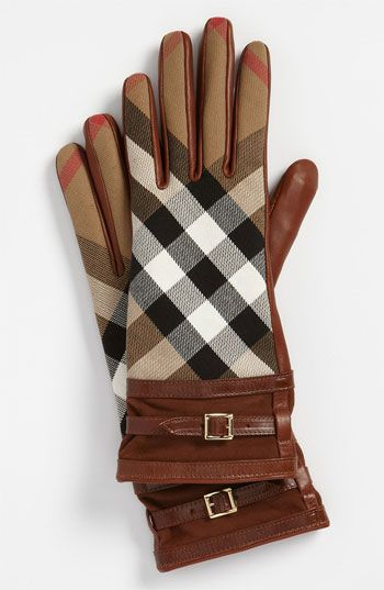 #Burberry 'House Check' Gloves