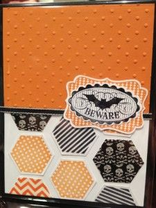 Handmade Halloween card using the Halloween Bash stamp set from Stampin' Up!