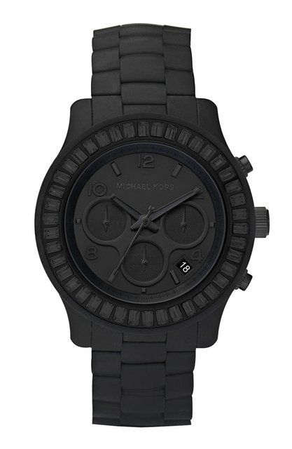 Michael Kors matte black watch. it seems that all my fave watches are michael kors lately.....