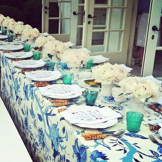 summer table | aerin lauder | south hampton