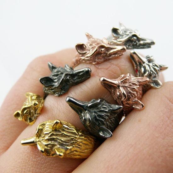 {Adjustable Fox Ring} by Angela Monaco