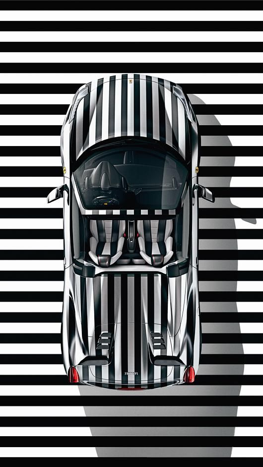 Stripes cool car