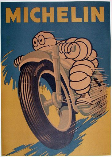 Michelin poster cafe racer