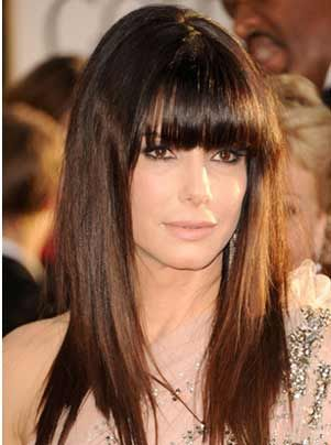 Long locks with bangs Hairstyles For Women Over 40