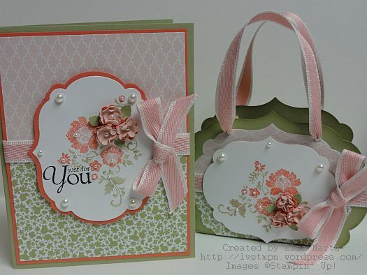 I like the little purse out of framelits and the boho punch flowers.