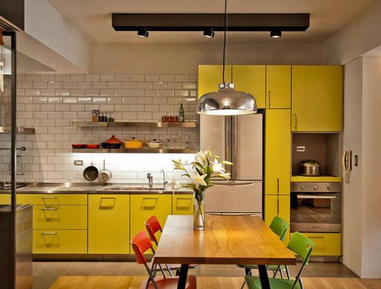 #yellow #kitchen #interior