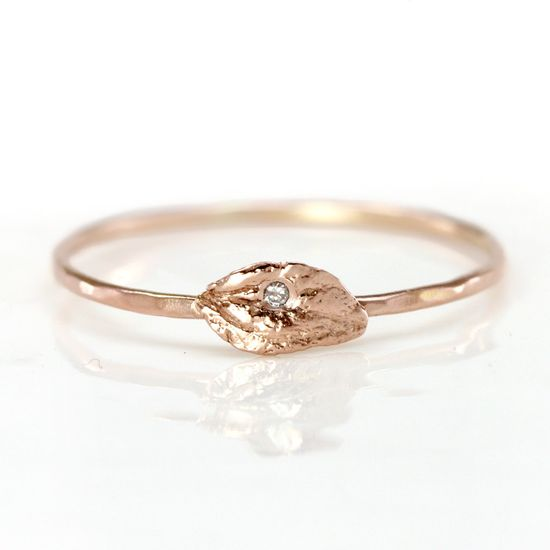 Diamond Leaf Ring by etsy.com/...