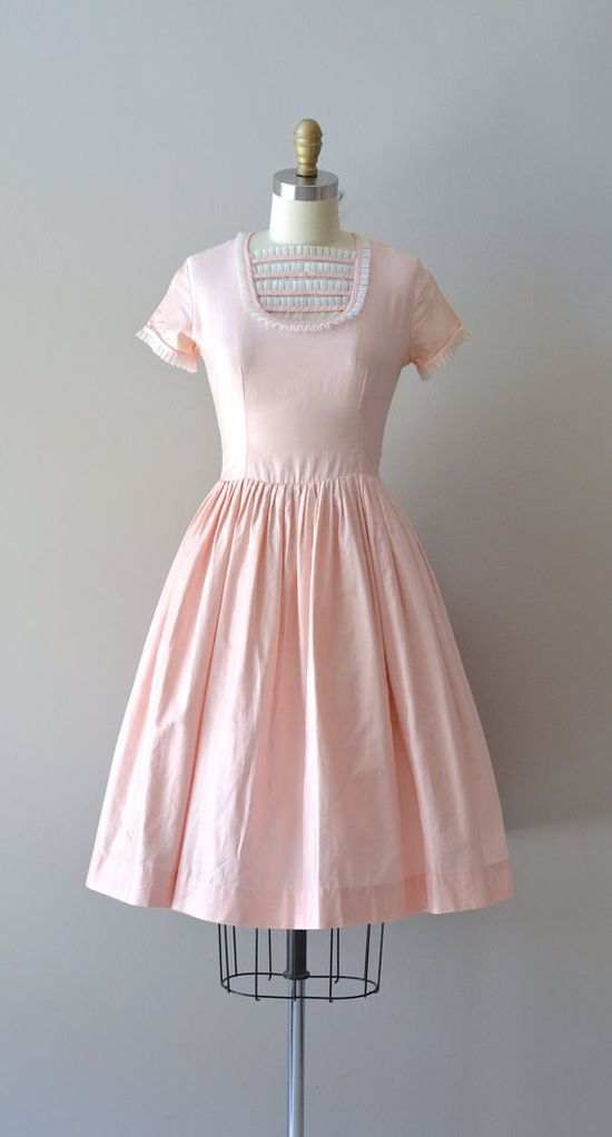 cotton 50s dress / vintage 1950s dress / Sugar Rush by DearGolden, $88.00
