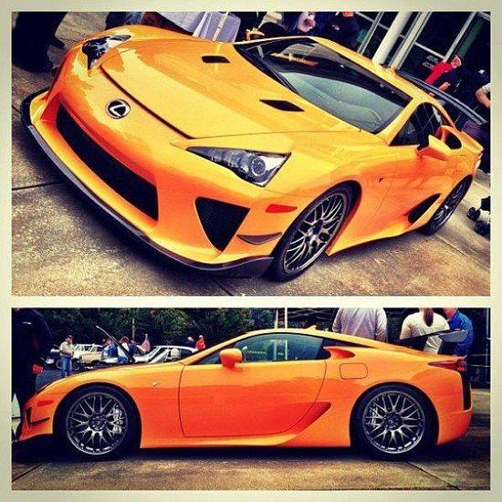 Burnt orange Lexus LFA!