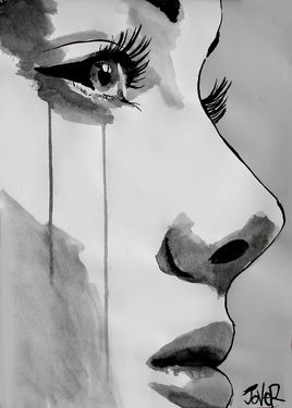"Saatchi Online Artist Loui Jover; Drawing, ""awakening"" #art"