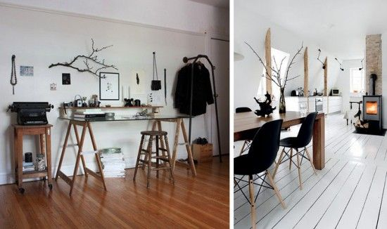 white floors // Interior Obsessions – Wood Floors