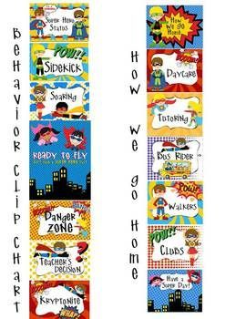 SUPER Hero - Classroom Decor - binder covers, banners, #Classroom Decor Ideas