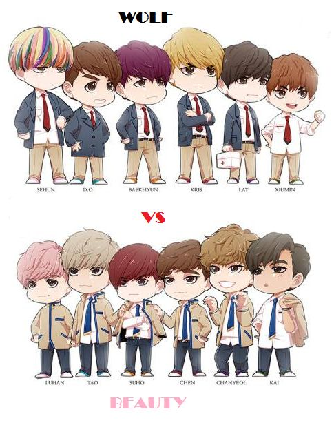 EXO.. Wolf Vs. Beauty... Which aide r u on?