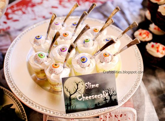 Kids Halloween Party IDEAS - Slime Cheesecake