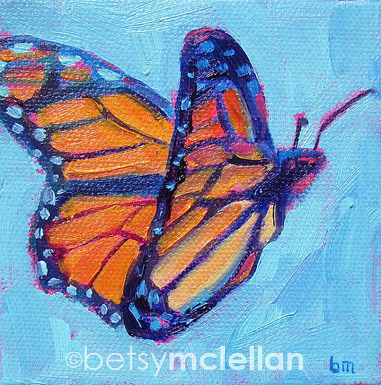 Butterfly Original Painting by betsymclellanstudio on Etsy, $20.00