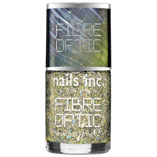New at #Sephora: nails inc. Fibre Optic polish features tiny holographic particles that blend to create a dramatic party look. #SephoraNailspotting #nails #nailart