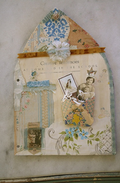 Collage book page by Pam Garrison