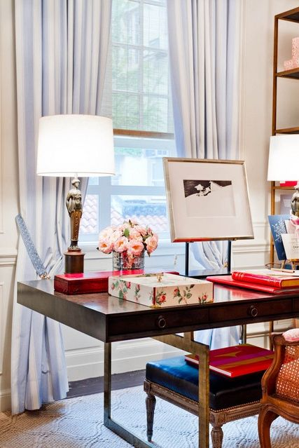 Chic Desk Styling + Beautiful Office.