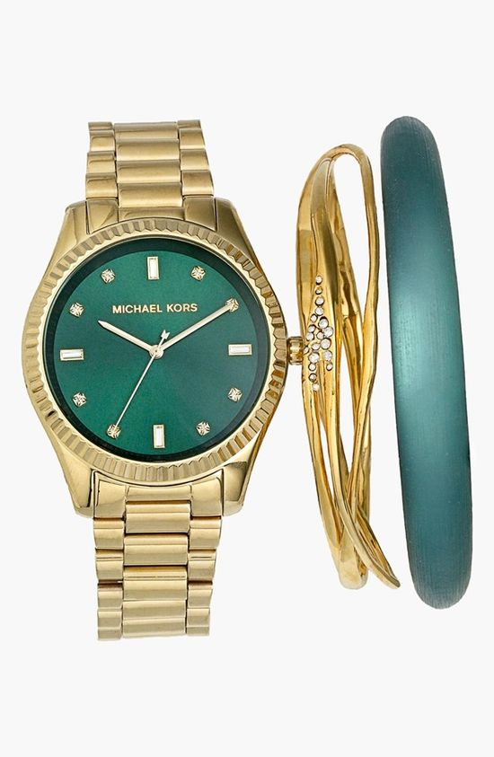 Emerald Michael Kors & Alexis Bittar Arm Candy!