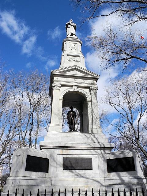 American Civil War Memorial on the Cambridge Common outside of Harvard Square