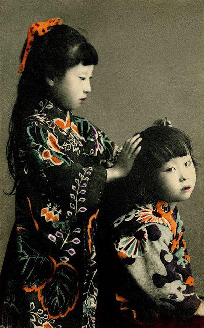 Two Girls, 1905, Japan